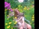 Девушка и ослик