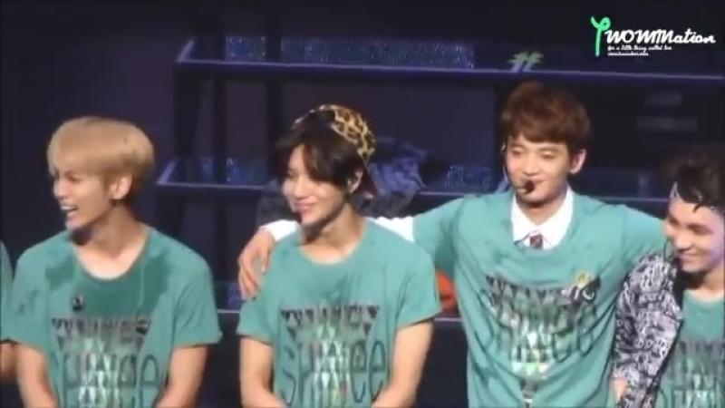 141011 SWC In Nagano- Minho hug and touch Taemin 2min Minho Taemin SHINee