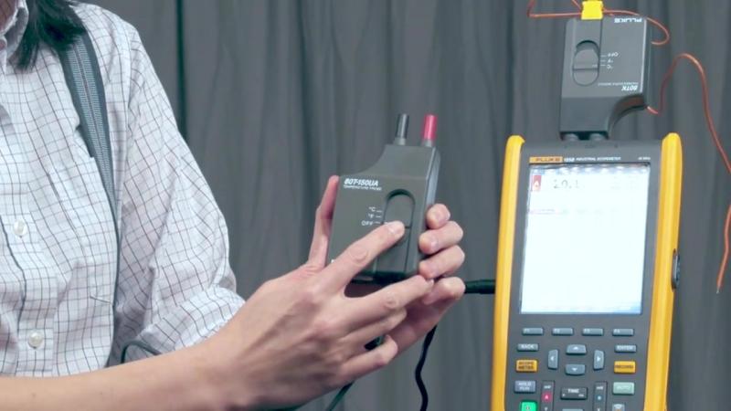 Серия Промышленные портативные осциллографы Fluke ScopeMeter® 120B-режим записи и измерения температуры NKpribor.ru