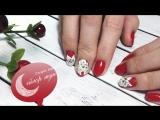 Невероятный маникюр с цветами от Салона красоты Сейлор Мун