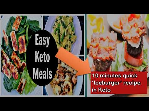 How to make keto diet meal in 5 minutes| Learn new keto diet recipe of 'Iceburger' just in 5 mins