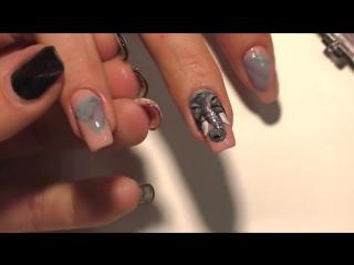 Супер Дизайн ногтей гель лаком СЛОН. Попробуй повтори этот простой и модный маникюр 2017