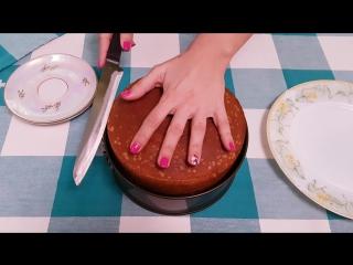 Как просто разрезать бисквит на коржи