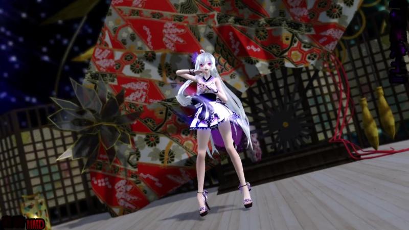 Short Kimono Haku 『極楽浄土』 1080p 60fps