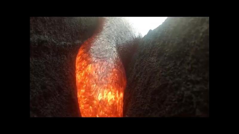 GoPro сняла впечатляющие кадры расплавленной лавы и выжила после столкновения с