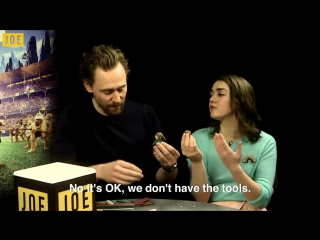 We got Tom Hiddleston and Maisie Williams to make each other out of modelling clay