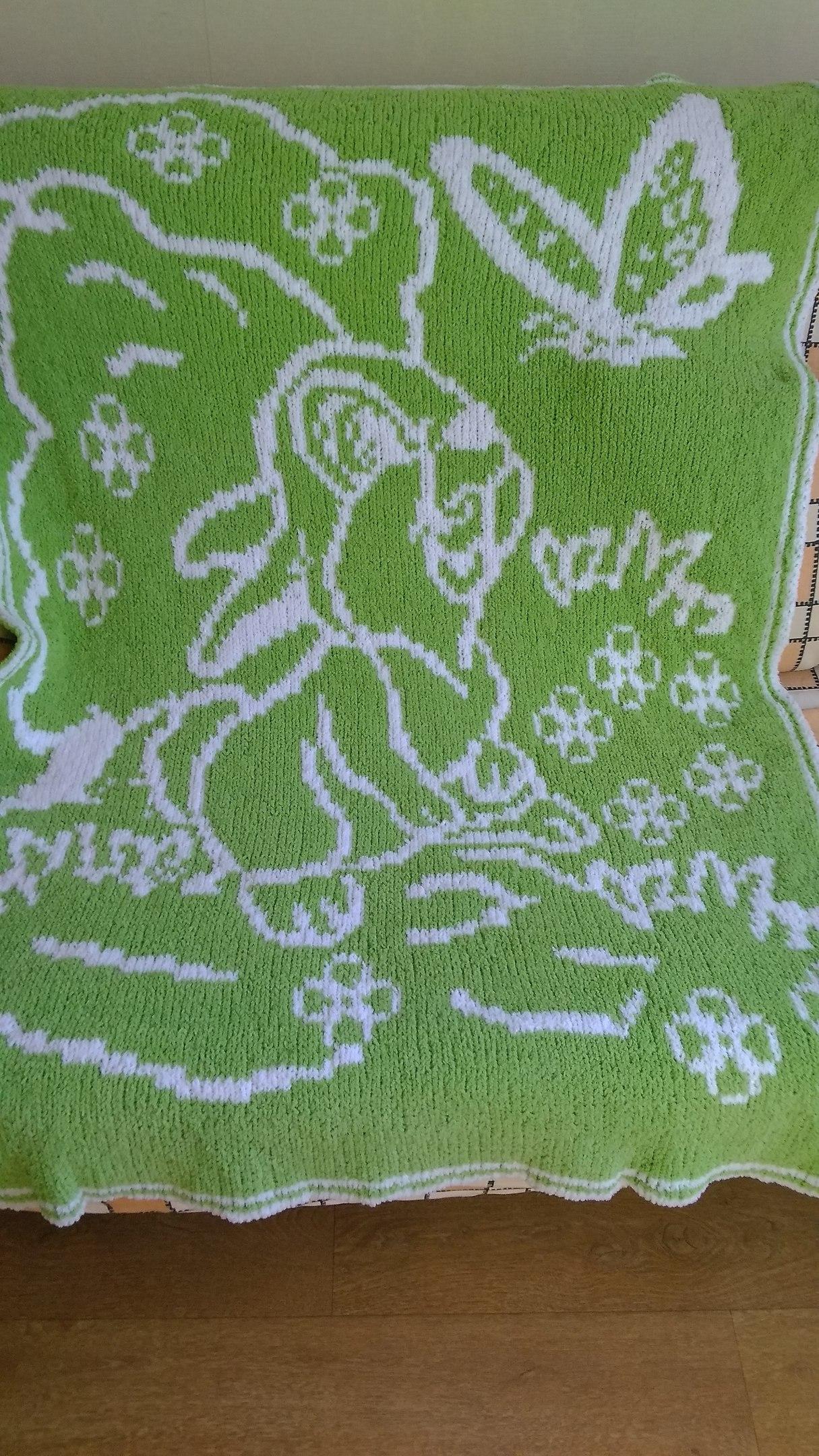 儿童双提花毯子 - 壹一 - 壹一编织博客