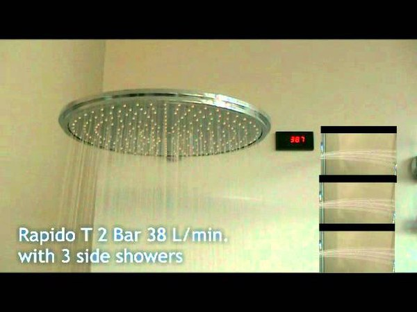 GROHE training Rapido T flow with head, hand and side showers