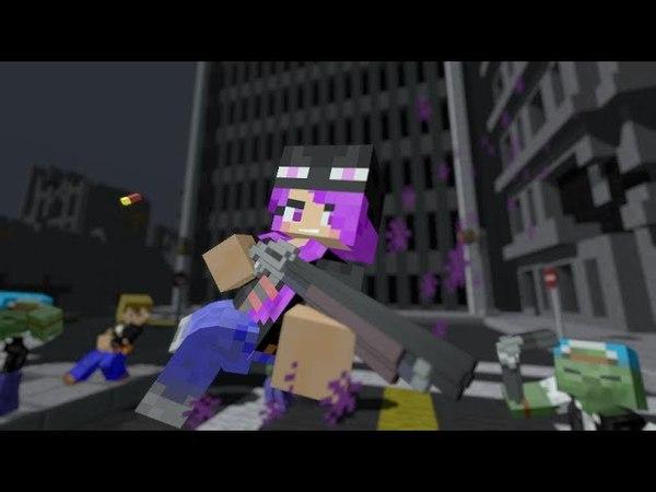 [ Minecraft Animation ] Ender girl in battle city