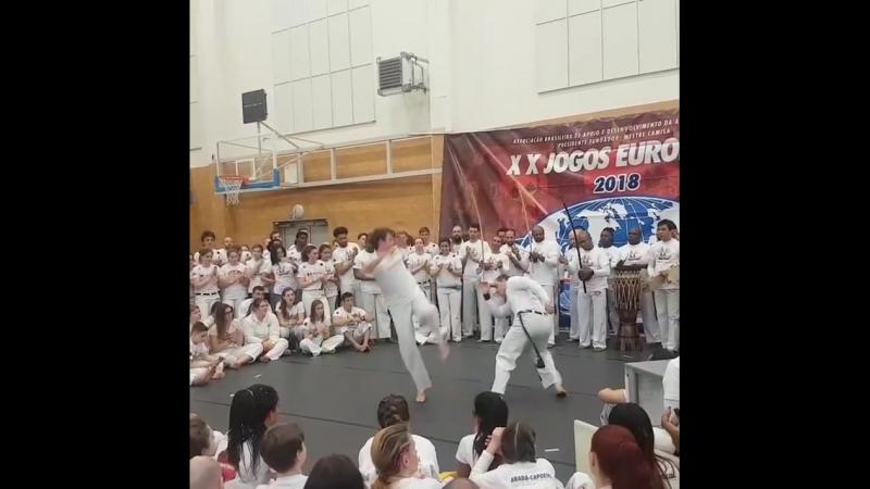 Um pouco dos Jogos Europeus de Capoeira 2018 em Praga, República Tcheca.Lite av Capoeira E.M i Prag.capoeira abadacapoeirastoc