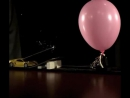 Slot Car With Sparkler Hits Hydrogen Balloon.mp4