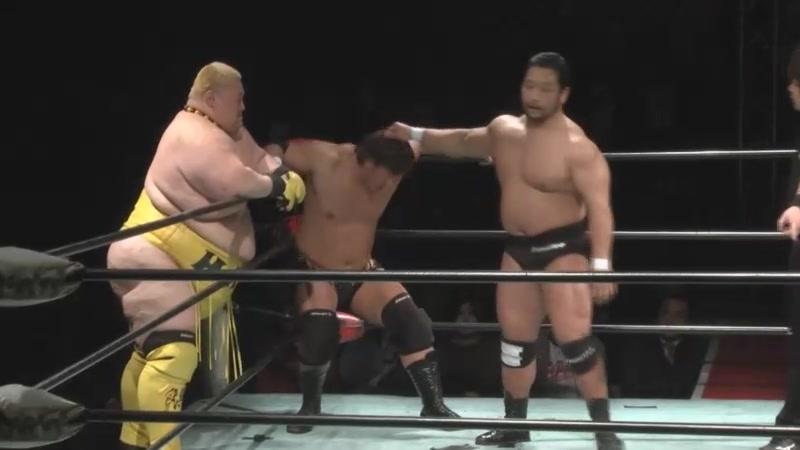 Daisuke Sekimoto, Ryota Hama vs. Yasufumi Nakanoue, Ryuichi Kawakami (BJW - Ikkitousen Strong Climb 2018 Pre-Season Opener)