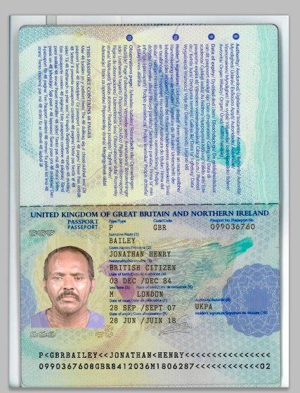 шаблон скана паспорта рф в psd
