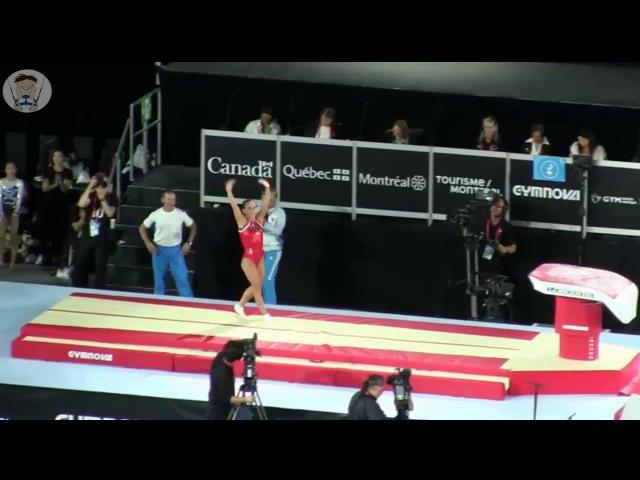 Oksana Chusovitina - Rumania team - Vt Qual @ World Championships 2017 MONTREAL (CAN)