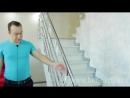 Классическая закрытая лестница в двухуровневой квартире