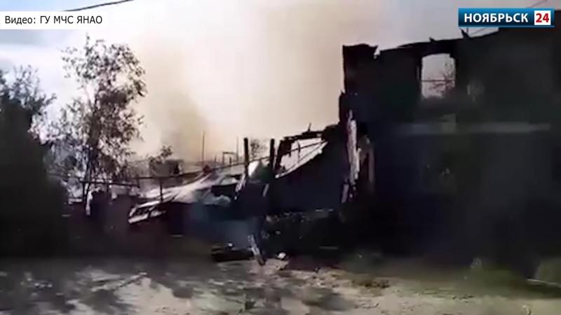 Один человек пострадал при пожаре в жилой двухэтажке на Ямале