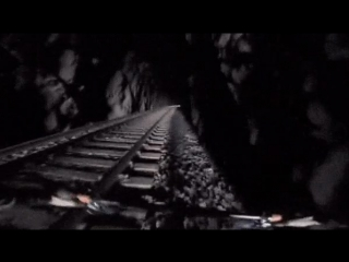 Велосипедист в ж/д туннеле