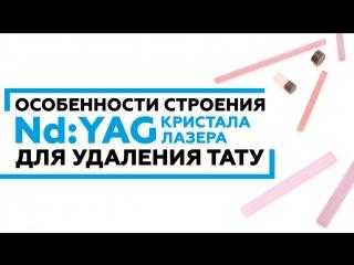 Особенности строения Nd:YAG кристалла лазера для удаления тату #удалениетату #ndyag #лазерноеудаление