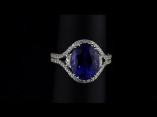 Роскошное кольцо из белого золота с 6-каратным цейлонским сапфиром цвета Royal Blue и бриллиантами!💙