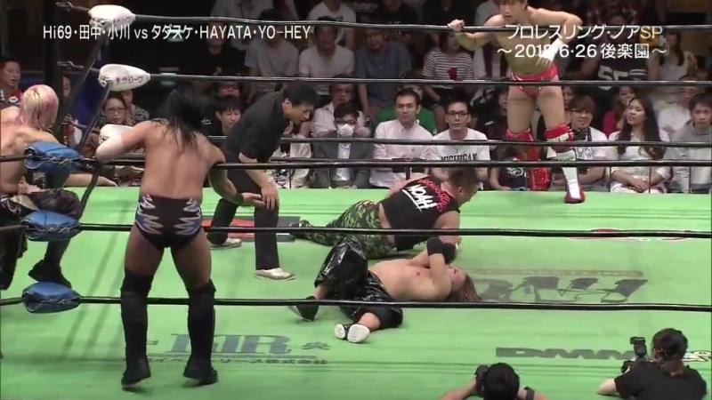 HAYATA, Tadasuke, YO-HEY vs. Hi69, Minoru Tanaka, Yoshinari Ogawa (NOAH - Navigation With Emerald Spirits)