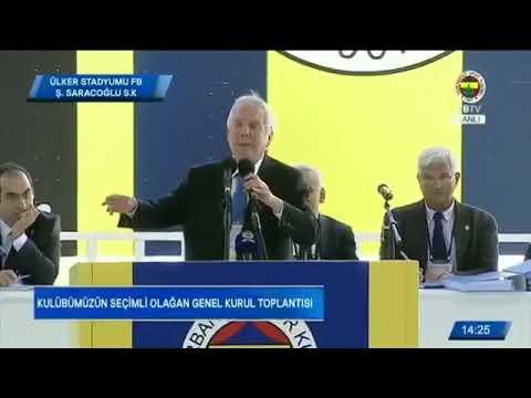 Fenerbahçe genel kurul toplantısı Aziz Yıldırım konuşuyor