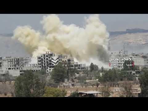 Golan-1000 выжигает ракетами «земля-земля»: видео штурма САА анклава ИГ