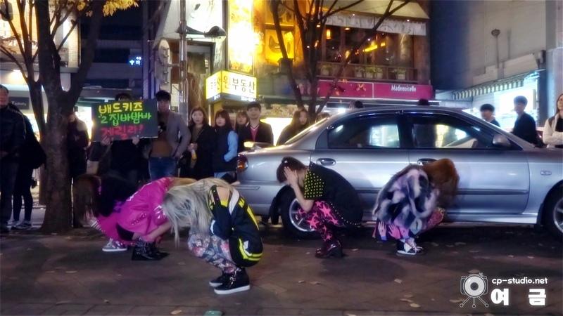 [14.11.27] 배드키즈(BadKiz) 홍대 게릴라 직캠 - 바밤바(BaBomBa) by 여금
