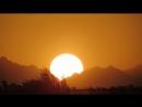 Закат Солнце садится за Горы Красного моря