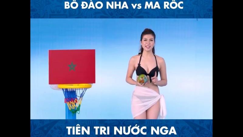 Nữ MC Thu Hằng của K mặc bikini dẫn chương trình World Cup 2018