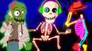 Cinco Esqueletos Terroríficos y más Canciones de Halloween Pueblo Teehee