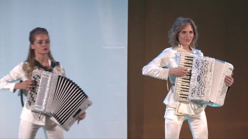 Самые красивые аккордеонистки Дуэт Ларго - Полет Шмеля.