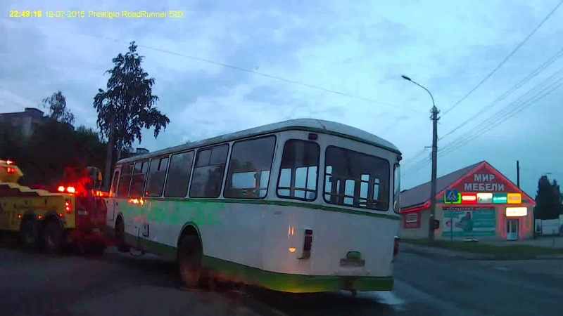 Транспортировка автобуса ЛиАЗ-677М