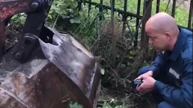 Спасение собаки в Ленинградской области