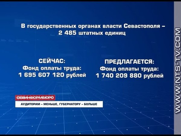 17.05.2018 Получит ли Губернатор Севастополя пять окладов отпускных?