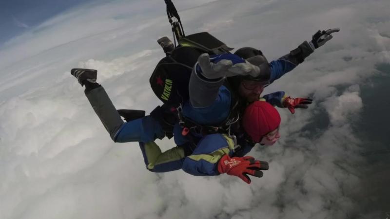 Третий прыжок с парашютом.