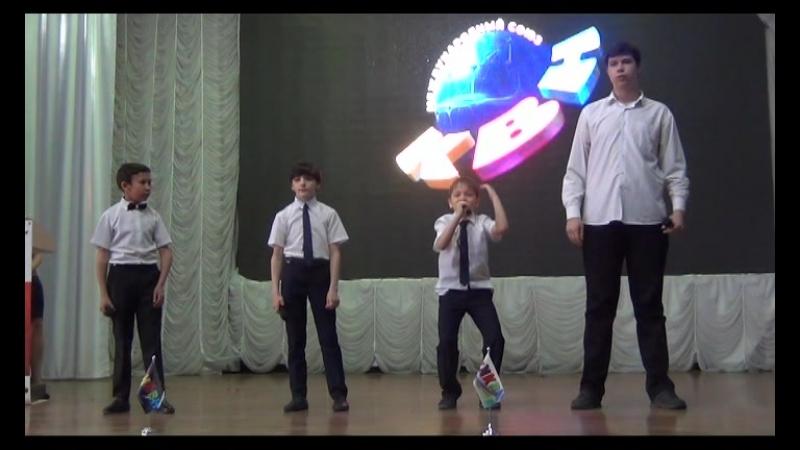 18.04.15 финал лиги СТАРТ, приветствие, команда КВН 3к1, шк.36