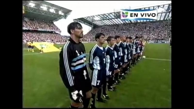 Himno de Argentina vs Inglaterra Mundial Francia 1998