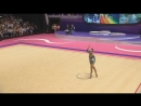 Арина Аверина - обруч многоборье Гран-при Холон 2018