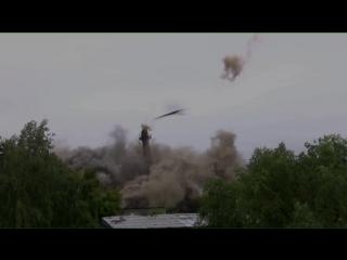 Взрыв аварийной котельной и 45-метровой трубы