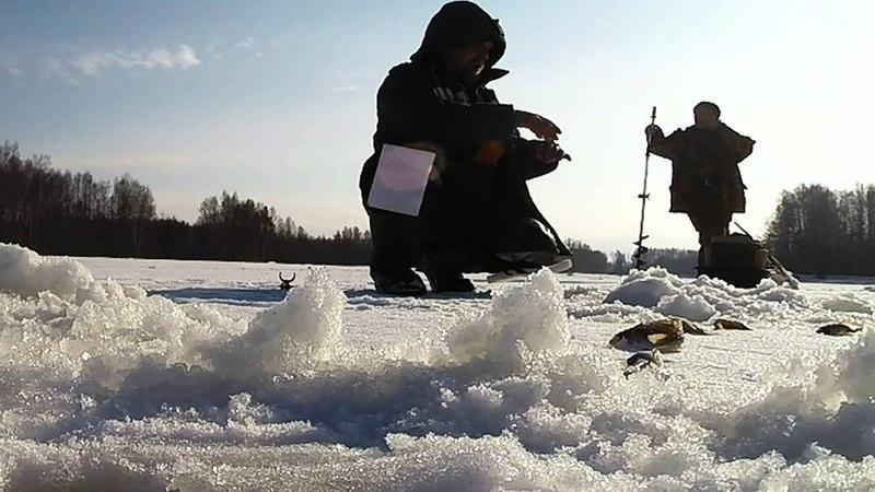 Рыбалка на реке Нёмда в феврале. Меленки.