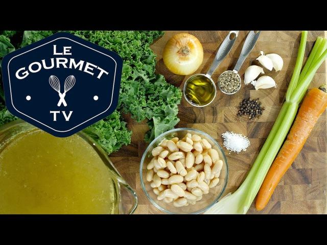 Fagioli Bianchi di Toscana (Tuscan White Bean Soup) - Le Gourmet TV