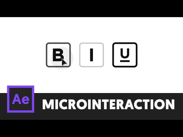 Text Style Animation After Effects Tutorial Microinteraction 1