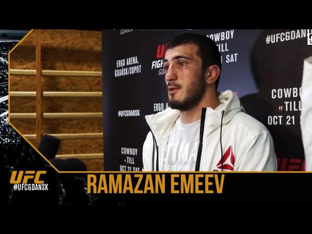 Интервью Рамазана Эмеева после успешного дебюта в UFC
