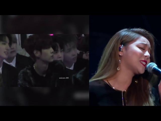 BTS Jungkook Reaction to Ailee's 첫눈처럼 너에게 가겠다 MAMA HK 2017