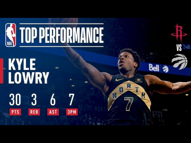 Kyle Lowry Defends Home Court vs The Rockets!