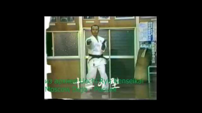 Yoshitsune Senaga Sensei Seisan 上地流拳誠会本部