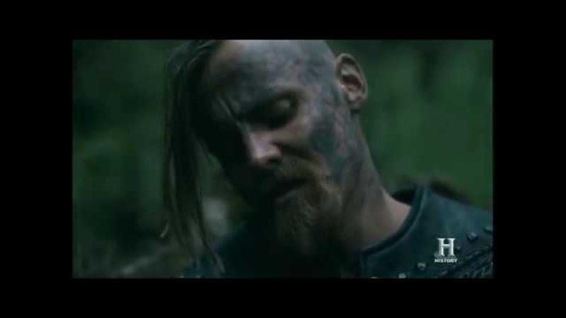 Конунг Харальд поет с братом перед боем. Викинги 5 сезон 10 серия.