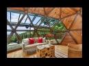 Идеи интерьера и дизайна купольного геодезического дома   Как выглядит сферический дом внутри?