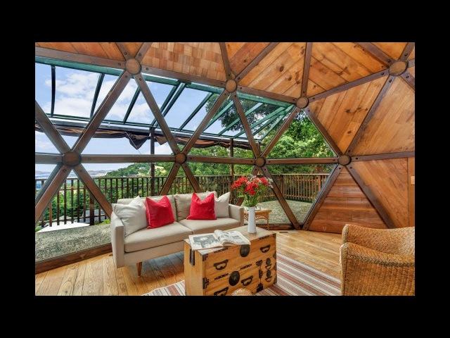 Идеи интерьера и дизайна купольного геодезического дома | Как выглядит сферический дом внутри