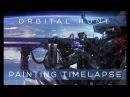 Orbital Hunt - Painting Photo Manip timelapse